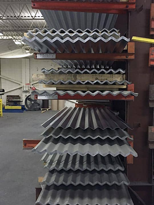 Stock Metal Panels Corrugated Steel And Aluminum Panels