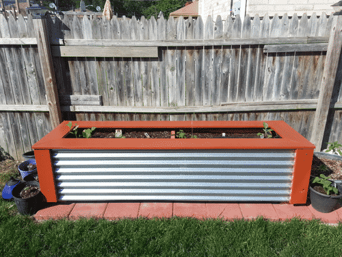 Yard Planter - Corrugated Metal Design