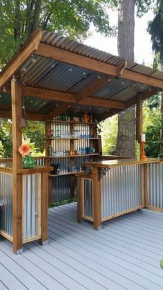 Superb Corrugated Metal Outdoor Bar